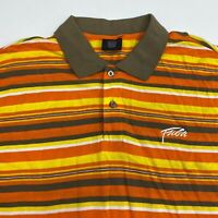 Fubu The Collection Polo Shirt Men's 2XL XXL Short Sleeve Striped 100% Cotton