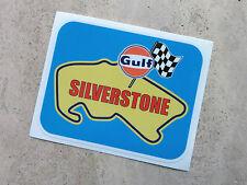 Gulf Silverstone racing circuit sticker 95 x 75 mm  - Gulf Licensed Merchandise