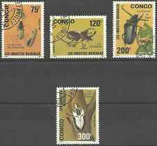 Timbres Insectes Congo 907/10 o lot 8771
