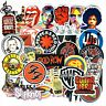 Retro Rock Band Music Stickers Green Day RHCP Dead Kennedys For Guitar Trendy