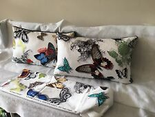Pkt 2 Designers Guild Butterfly Print/jab Saba Cushions