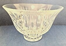 Waterford Crystal 8 Inch Round Footed Bowl, Glencar, Original Tag