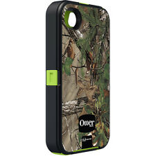 Apple iPhone 4 4s OtterBox Defender Realtree Camo Case Clip Holster Xtra Green