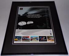 Gran Turismo 2 2000 PS1 Framed 11x14 ORIGINAL Advertisement