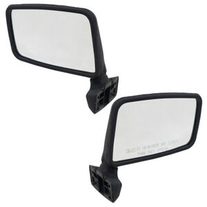 Pair Side Mirrors for Jeep Comanche Cherokee Wrangler Manual 55027207 55027208