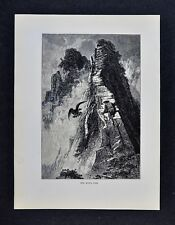 1878 Picturesque Print - One Man's Pass - Slieve League Cliffs - Donegal Ireland