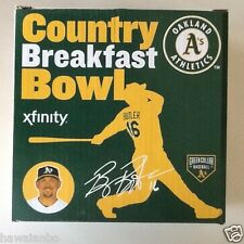 Oakland Athletics A's 2015 BILLY BUTLER COUNTRY BREAKFAST BOWL SGA NEW IN BOX