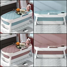 More details for foldable bath tub adult child bathtub folding barrel baby swimming pool with lid