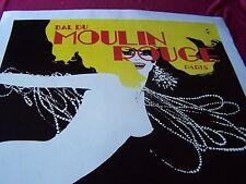 "Original"" MOULIN ROUGE ""Linen Lined Lithograph/Poster ""Festival"" Gruau 1960s"