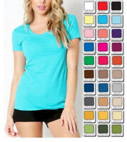 T Shirt Scoop Short Sleeve Basic Stretch *Zenana* Misses S/M/L/XL *CLOSEOUT*