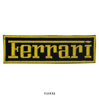 Ferrari Car Brand Logo Embroidered Iron On Sew On Patch Badge For Clothes