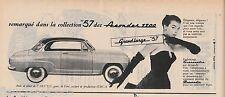 Publicité de Presse automobile Simca Aronde 1300  Grand Large 57