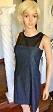 Ralph Lauren Womens 1135 Blue Faux Leather Dress 0 Juniors B B