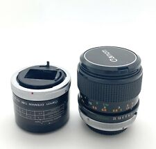 Canon FD 50mm f/3.5 Macro Lens With Canon FD Extension Tube, Nice