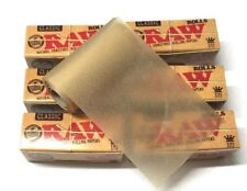 6 x RAW Rolls Natural Classic King Size Rolling Paper Roll Rips Gum