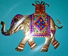 PAPYRUS BIRTHDAY CARD MAJESTIC GEMMED LUCKY ELEPHANT TRUNK UP CARRYING GIFT