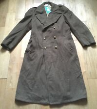 French Army 1950s Men Military Long Wool Coat~ Dated 1956 ~Double-Breasted~New~L