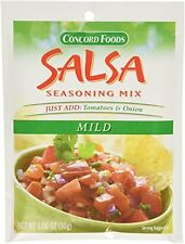 Concord Foods Mild Salsa Mix 1.06-Ounce Pouches VALUE Pack of 18 Pounces