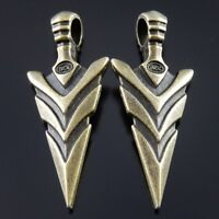 15pcs Vinatge Bronze Alloy Big Arrow Head Pendants Charms Jewelry Making 37018