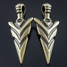 **5pcs Vinatge Bronze Alloy Big Arrow Head Pendants Charms Jewelry Making 37018