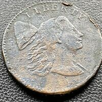 1794 Large Cent Liberty Cap Flowing Hair One Cent Better Grade VF Details #22591