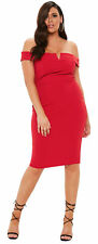 Missguided Women's Short Sleeve Bodycon Dress, Red - Size 26