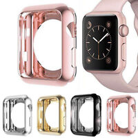 Apple Watch iWatch Series 3 2 1 Protector Frame Soft TPU Cover Case 38mm 42mm