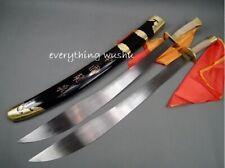 Wushu Double Broadswords Tai Chi Double Swords Swan Dao Wushu Shuang Dao