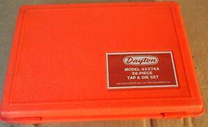 Dayton 4X574A 28-Piece TAP AND DIE SET - Appears Unused