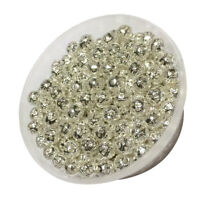 280pcs Mini Silver Metal Round Filigree Hollow Spacer Beads Loose Charms 6mm