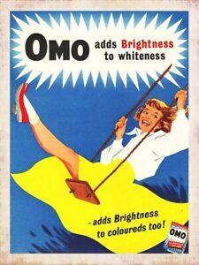 vintage retro style Omo advert poster image metal sign kitchen wall door plaque