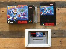 Mega Man X PAL Black Box - Super Nintendo, SNES, US Seller, Complete CIB