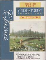 Vintage Poetry Volume 2 English Poets 2 Cassette Audio Book Keats Hardy Kipling