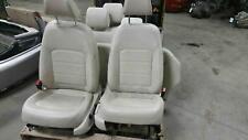 2015 PASSAT FRONT SEATS & REAR SEATS CORNSILK BEIGE TRIM=HW leatherette electric