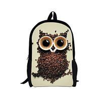 Cool Owl Backpack for School Girls Kids Elementary Bookbag Satchel Rucksack Bag