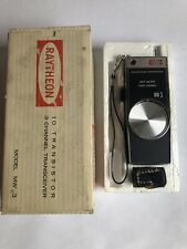 Raytheon Mw 3 Three Channel Transceiver 9v Vintage With Box & Original Earbud G