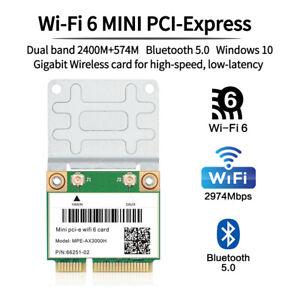 AX3000H WiFi 6 Mini PCIE Network Card Dual Band 802.11ax PCIe PC Wifi Card BT5.0