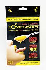 5 Pack Spoon sachets HONEYGIZER Male Enhancement Number 1 Natural organic honey