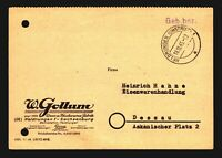 "Germany 1945 ""GEB BEZ"" Stampless Commercial Cover - Z14087"