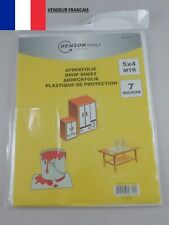 Bâche de Protection Plastique Peinture Bricolage Travaux Poussière 4x5M (20M2)