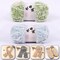 100g Soft Faux Fur Mink Fleece Wool Yarns 3 Ply DIY Hand Knitting Crochet Thread
