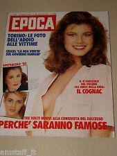 EPOCA=1983/1690=FEDERICA MORO=KLAUS BARBIE=MISSONI=COGNAC=CINEMA STATUTO TORINO=