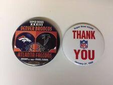 Super Bowl XXXIII (33) 1/31 1999 Denver Broncos VS Atlanta Falcons (2) Pins NFL