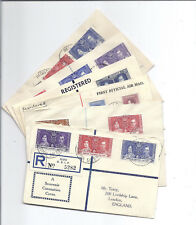 1937-1938 Royal Coronation FDC Lot of 6, All Different - Registered - KGVI & QE*