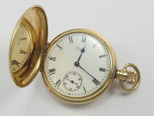 Antique WALTHAM SOLID GOLD HUNTER CASE POCKET WATCH