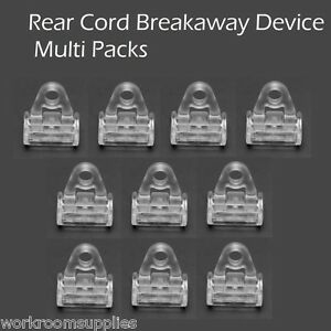 Rear Cord Breakaway Device for Roman Blinds (Child Safety)  - Multi Packs