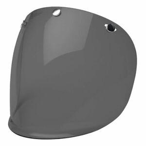 Bell Custom 500 3 Snap Visor Dark Smoke - For All Open Face Motorcycle Helmets