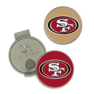 SAN FRANCISCO 49ERS HAT CLIP 2-PC BALL MARKER SET NEW WINCRAFT 👀⛳