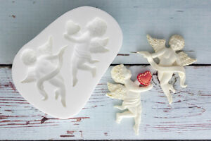 Silicone Mould, Cherubs, Angels, Valentine, Wedding,  Ellam Sugarcraft M171