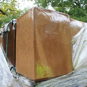 brown glazed 38 Wide x 58cm High / pot / flower pot / garden design / planter
